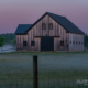 Foggy Barn Sunrise