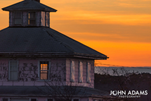 Pink House Sunset