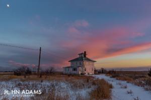 Plum Island Pink Sky Pink House